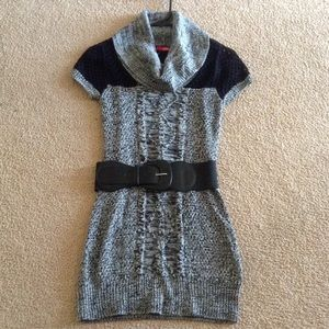 New Tunic Sweater with Belt